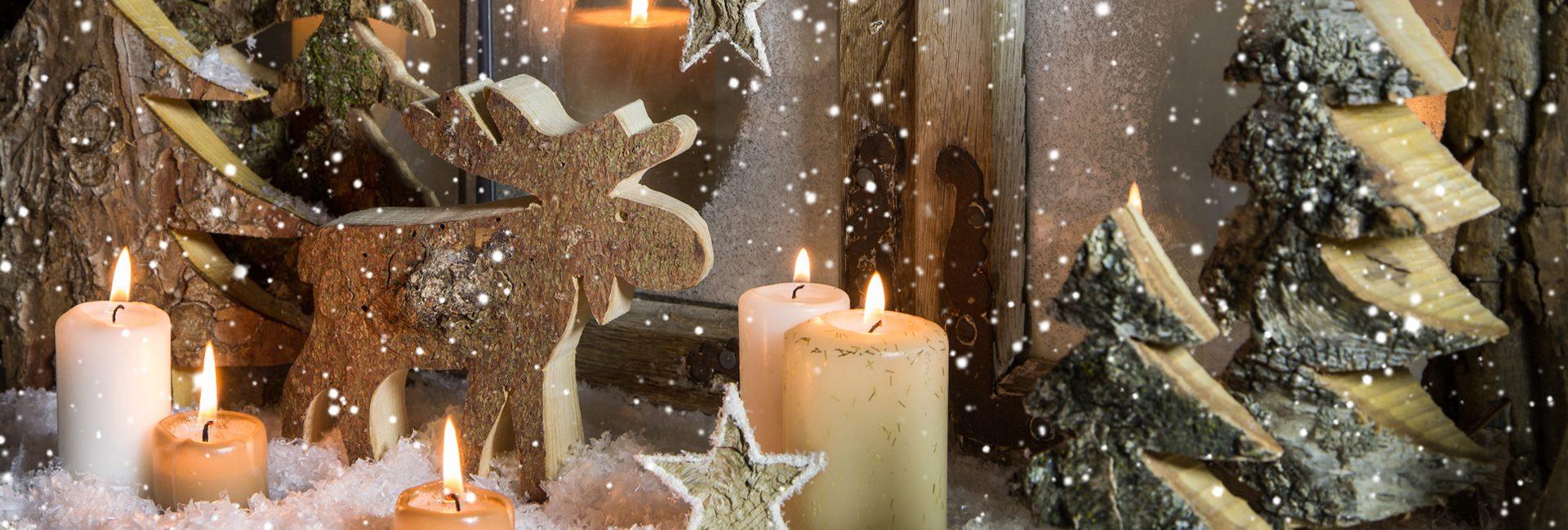 Weihnachtliche Holzdekoration selber machen